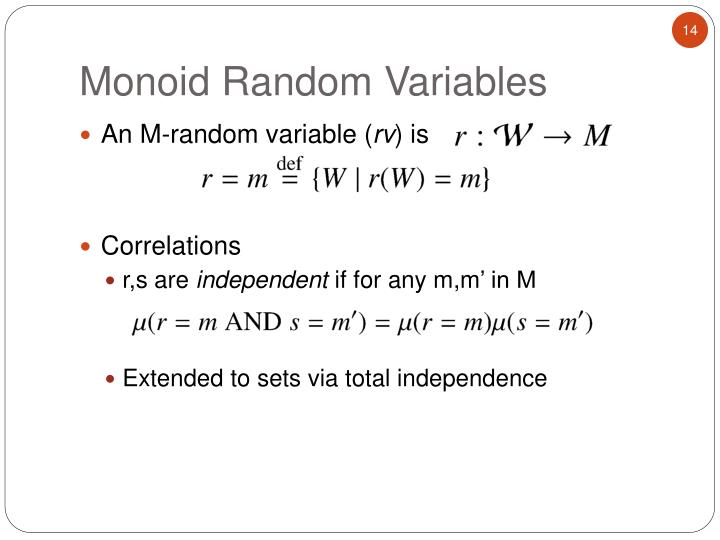An M-random variable (