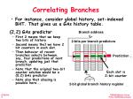 correlating branches1