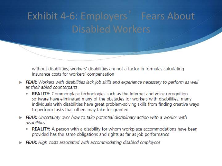 Exhibit 4-6: Employers