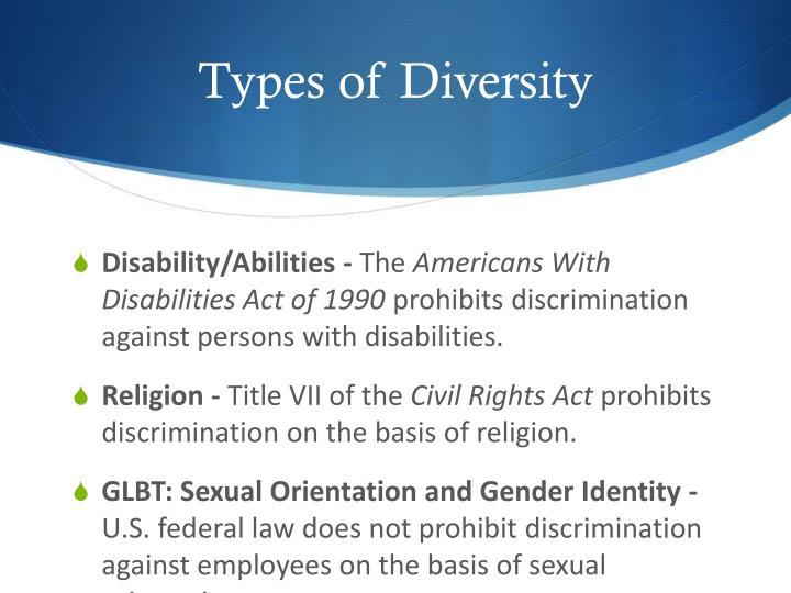 Types of Diversity