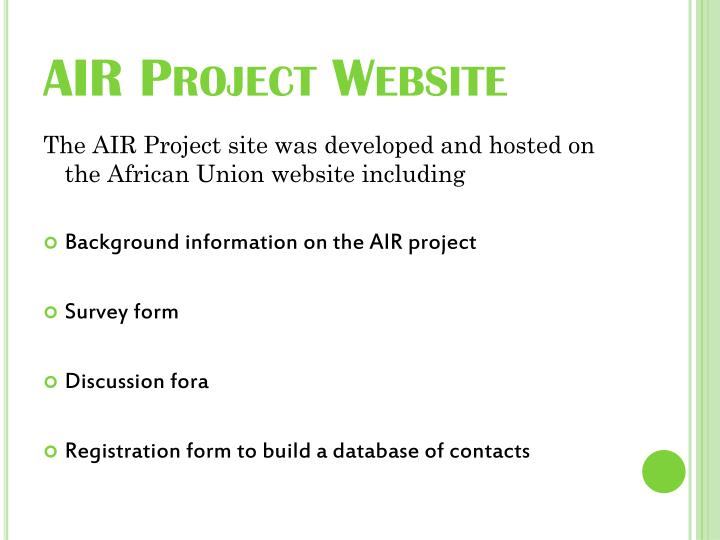 AIR Project Website