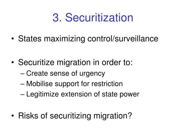3. Securitization