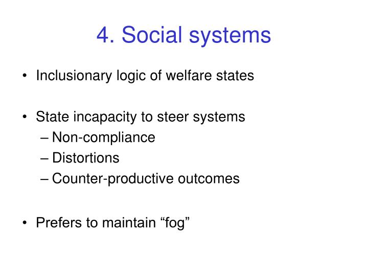 4. Social systems