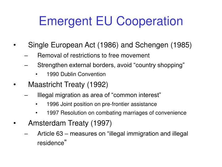 Emergent EU Cooperation