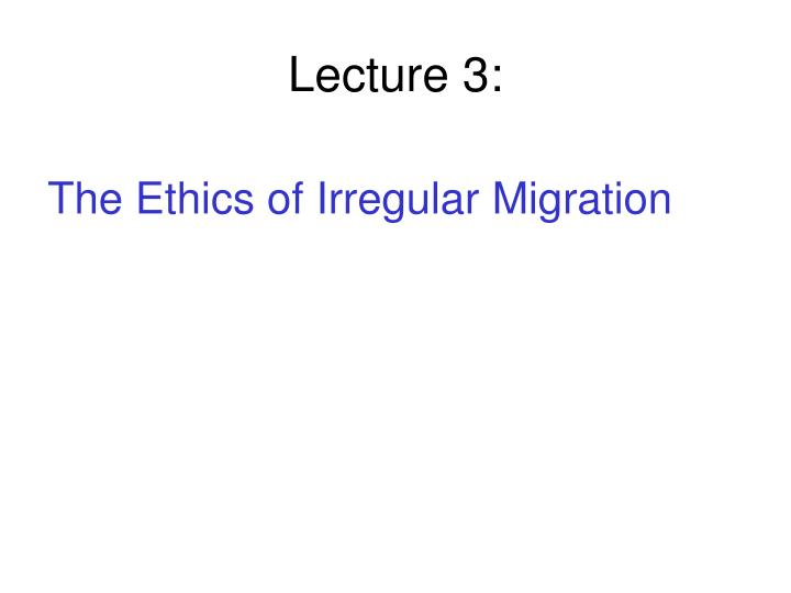 Lecture 3: