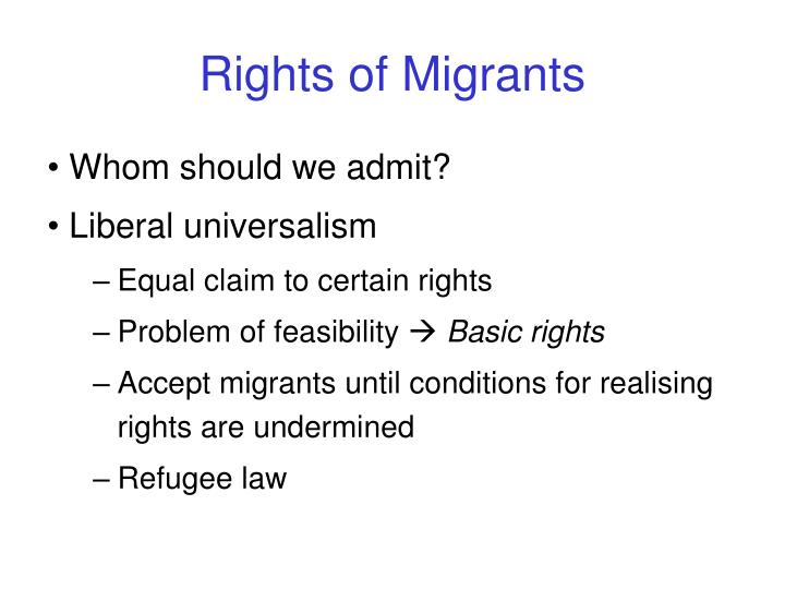 Rights of Migrants