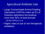 agricultural antibiotic use1