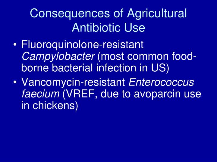 Consequences of Agricultural Antibiotic Use