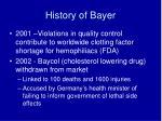 history of bayer7