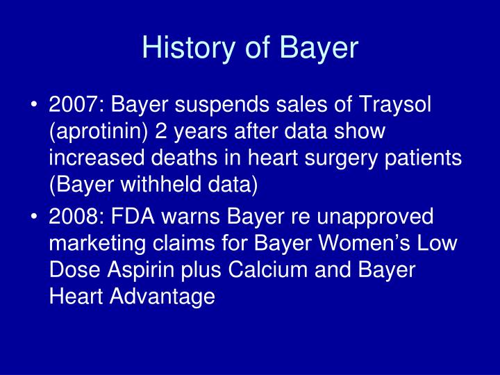History of Bayer