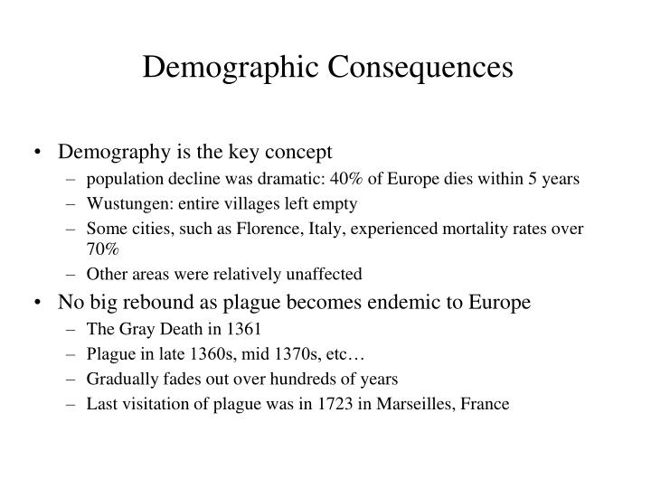 Demographic Consequences