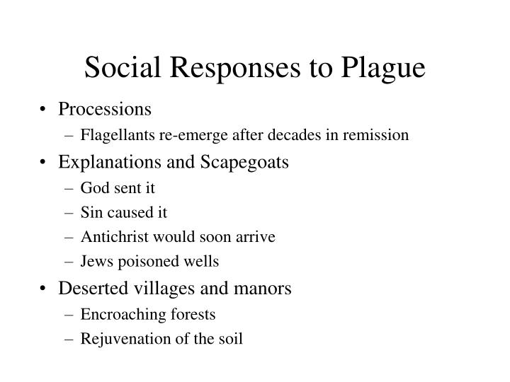 Social Responses to Plague