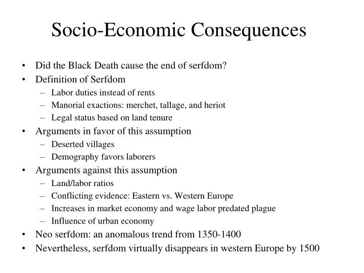 Socio-Economic Consequences