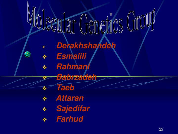 Molecular Genetics Group