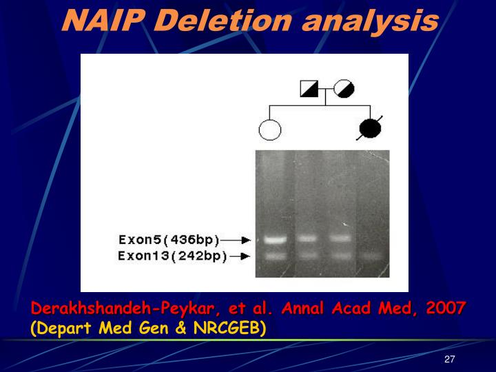 NAIP Deletion analysis