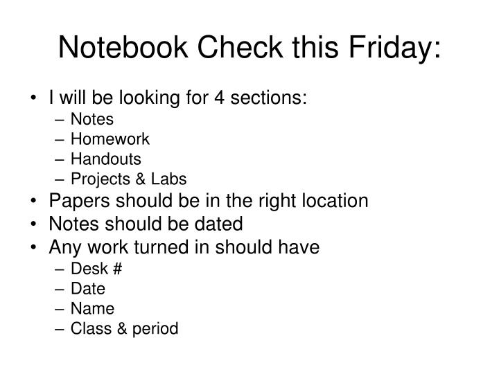 Notebook Check this Friday: