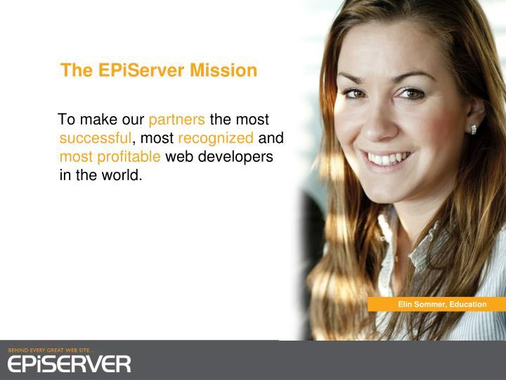The EPiServer Mission
