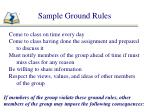 sample ground rules