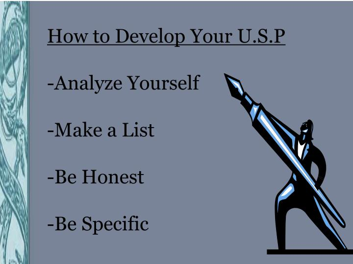 How to Develop Your U.S.P