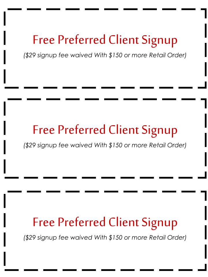 Free Preferred Client Signup