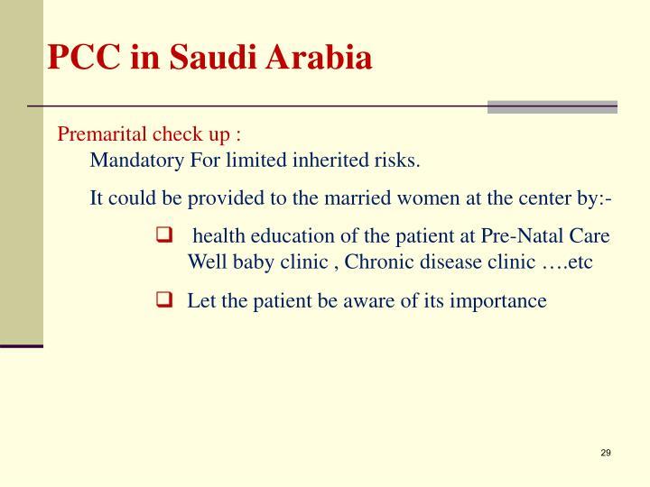 PCC in Saudi Arabia