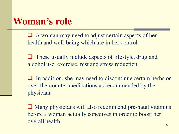 Woman's role