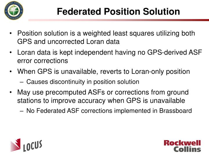 Federated Position Solution