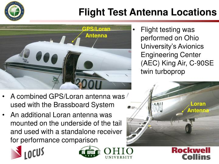 Flight Test Antenna Locations