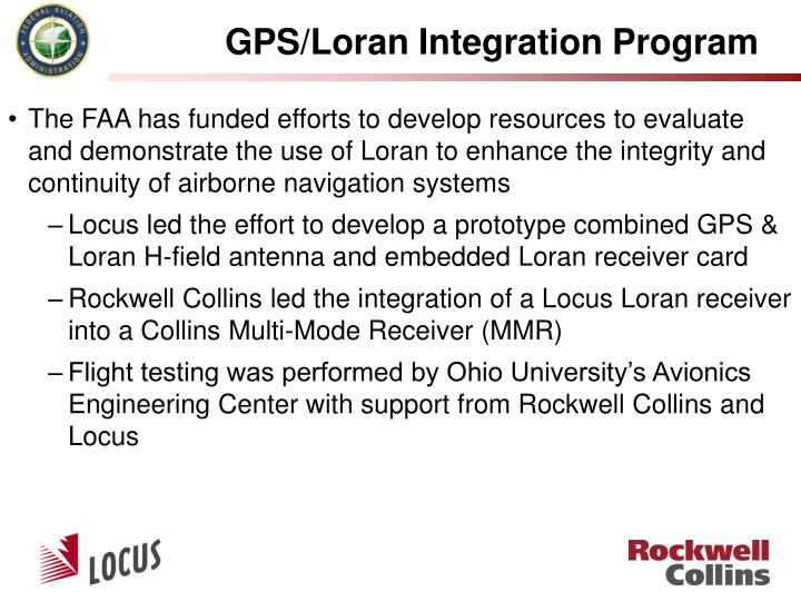 GPS/Loran Integration Program