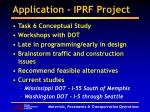 application iprf project