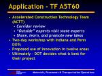 application tf a5t60