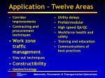 application twelve areas