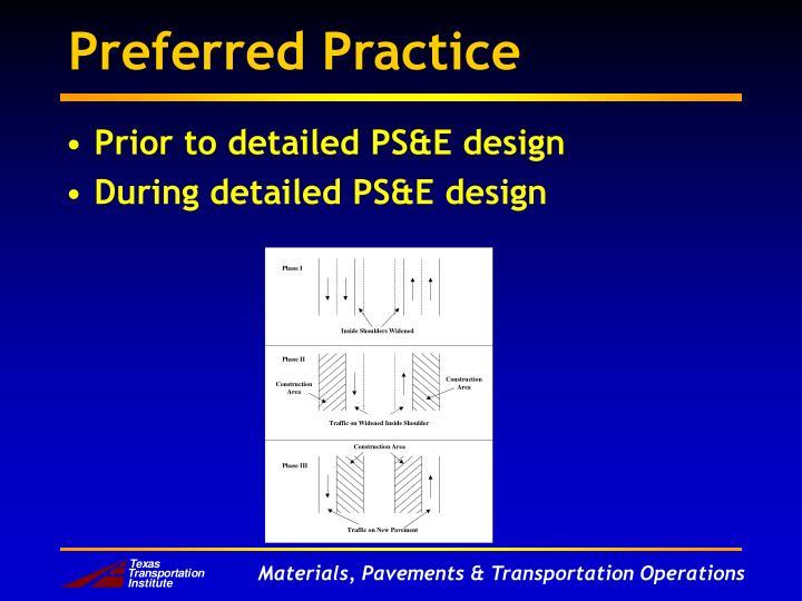 Preferred Practice