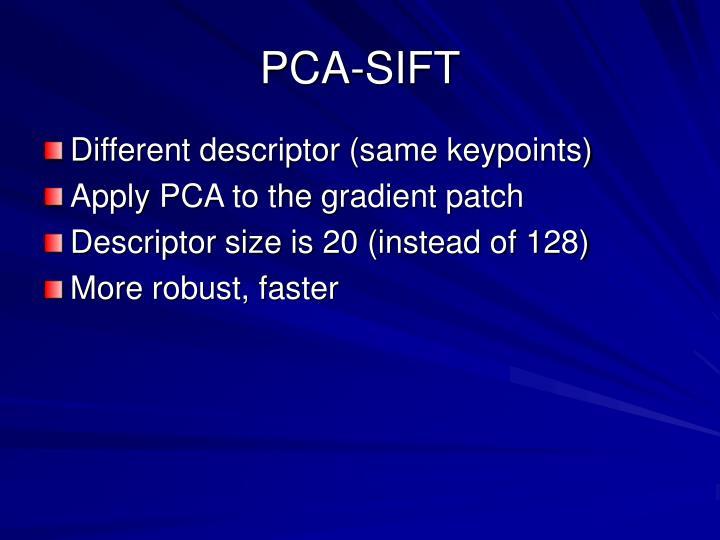 PCA-SIFT
