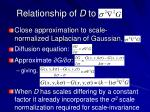 relationship of d to