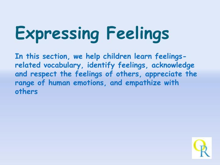 Expressing Feelings