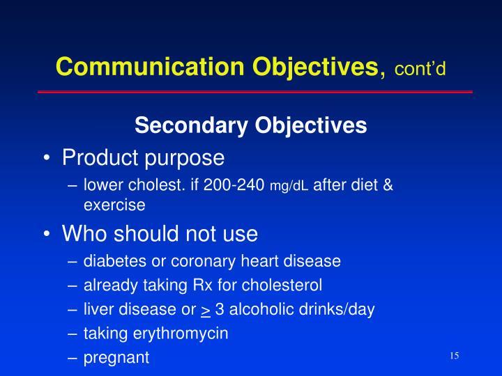 Communication Objectives