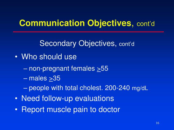 Communication Objectives