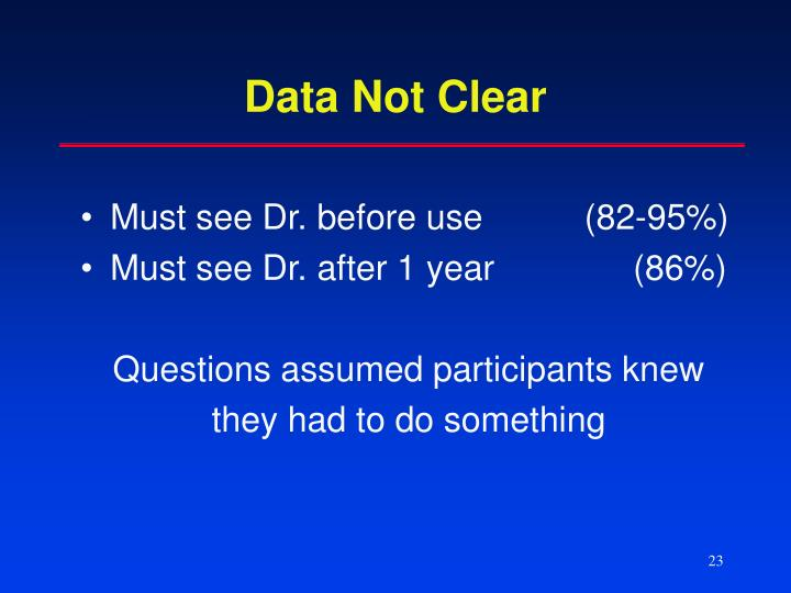 Data Not Clear