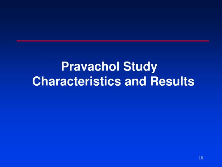 Pravachol Study Characteristics and Results