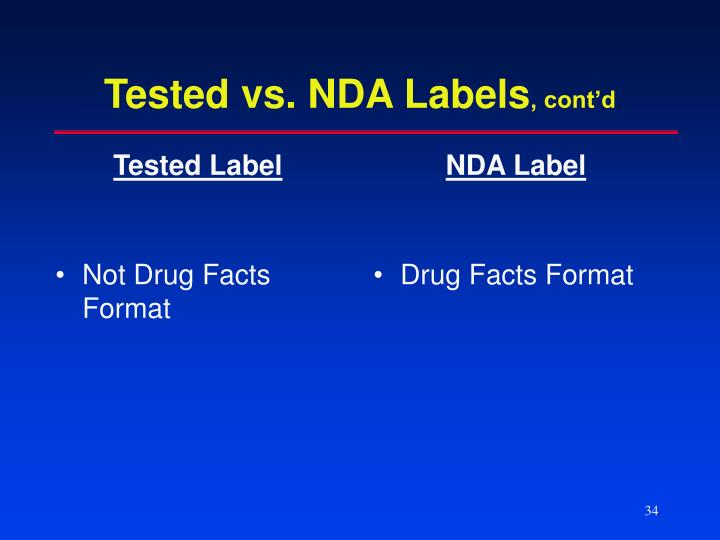 Tested Label