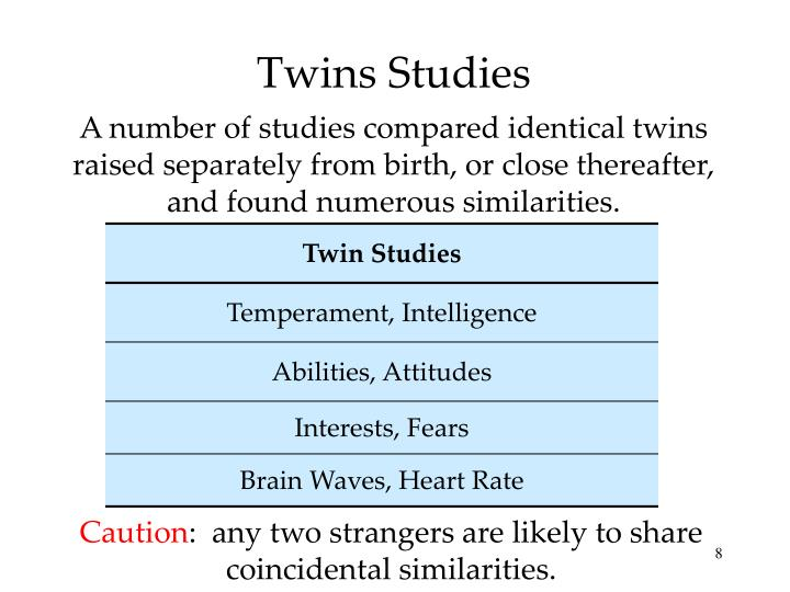 twins genetics essay Why twin studies twins provide a valuable source of information for health and psychological research, as their unique relationship allows researchers to pull apart and examine genetic and environmental influences.