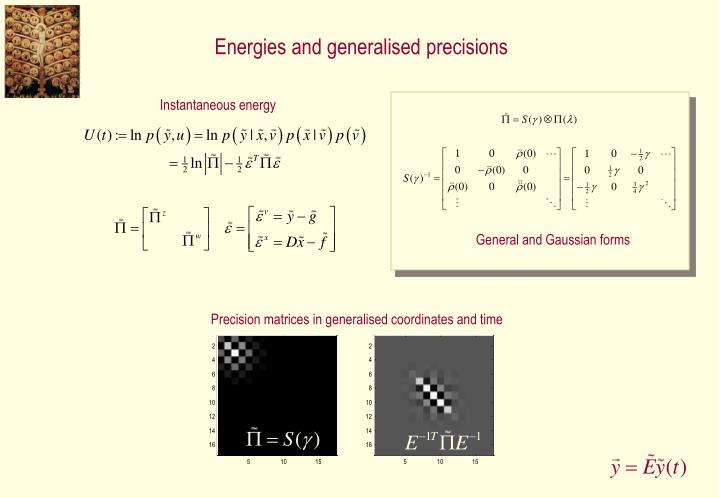 Energies and generalised precisions