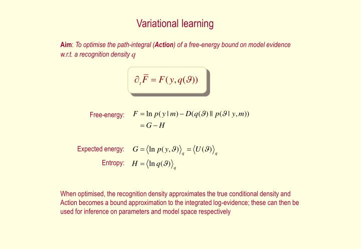 Variational learning