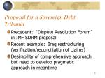proposal for a sovereign debt tribunal