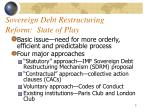 sovereign debt restructuring reform state of play