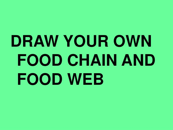 DRAW YOUR OWN FOOD CHAIN AND FOOD WEB