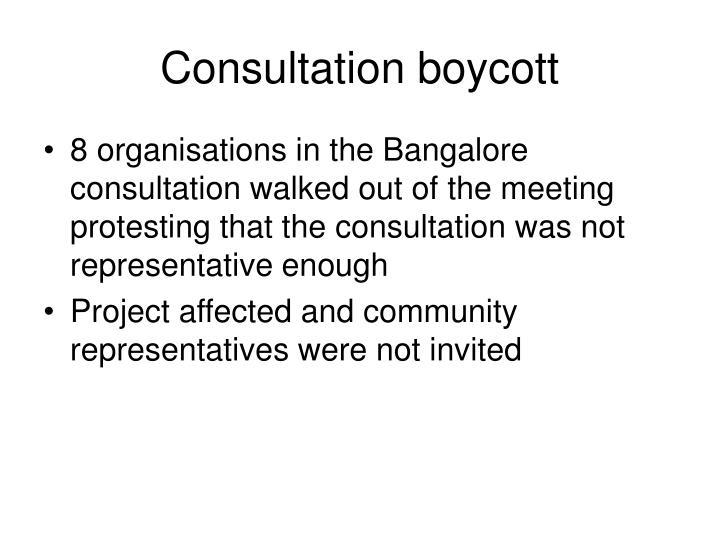 Consultation boycott