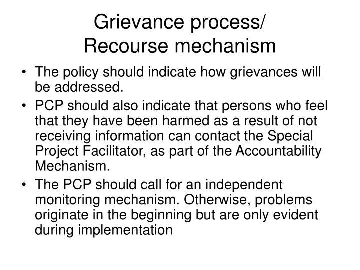 Grievance process/