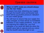 operator cautions
